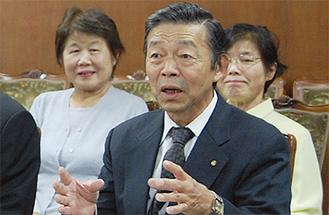 武道の重要性を話す小川代表