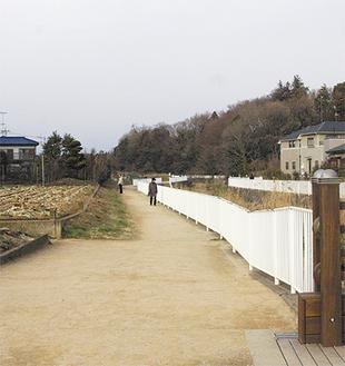 和泉川沿いは絶好の散歩道