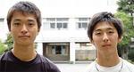 上野君(左)、岡部君【瀬谷】