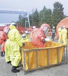 有毒ガスの除染活動