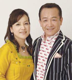 講演と歌謡ショーを行う湯原昌幸さんと荒木由美子さん