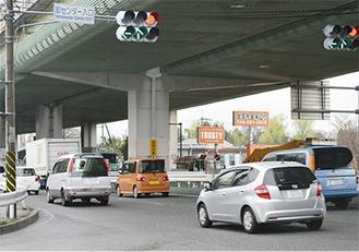 現在の卸センター入口交差点