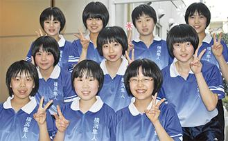 全国で3位の隼人中女子卓球部