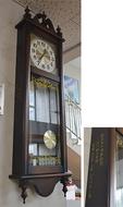 OB会から掛け時計寄贈