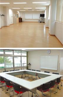 多目的研修室(上)と交流室