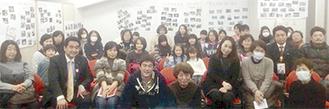 飯野会長と露木会長(中央)