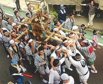 三ツ境の神輿(昨年)