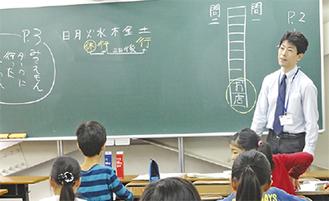 国語を丁寧に指導する西野先生