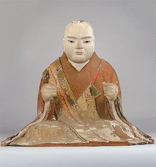 市指定文化財の木造日蓮聖人坐像(横浜市提供)