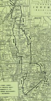 3コースが記されたマップ