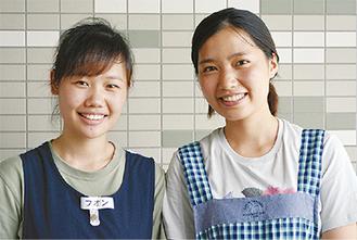 笑顔が印象的なフオンさん(左)とホアさん