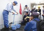 受水槽から飲料水確保(三ツ境小)