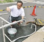 消火栓から飲料水を確保