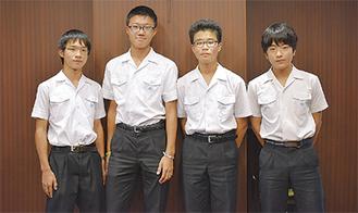 講演する(左から)松村さん、堀川さん、浦田さん、河合さん