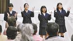 二俣川看護福祉高等学校コーラス部の生徒たち