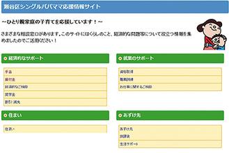 情報サイトのトップページ