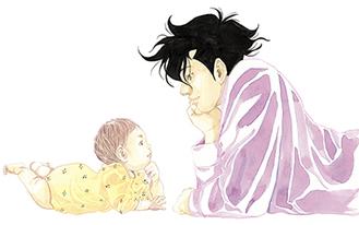 原作の人気漫画のイラスト『コウノドリ』鈴ノ木ユウ/講談社