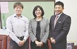 協力して大会を行う佐藤校長(中央)、川口委員長(左)、古木会長