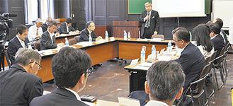 専門家による検討委員会が開かれた=開港記念会館