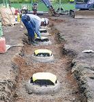 下水管の設置が完了