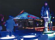 体験型イルミで冬の夜彩る