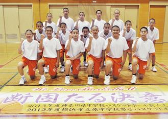 全国を見据えている吉松主将(前列中央右)と選手たち