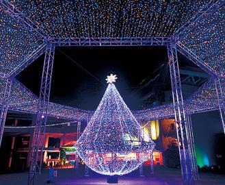 八角形の光のツリー