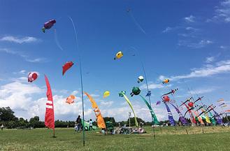 カラフルな凧が舞う※写真は過去の行事の様子