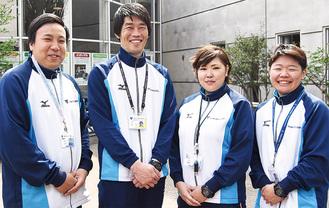 中邨さん(左から2番目)と健康づくりの手助けを担うスタッフら