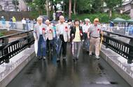 和泉川に「くつろぎ橋」