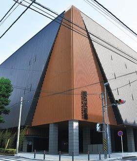 中区の高校跡地に開館した武道館