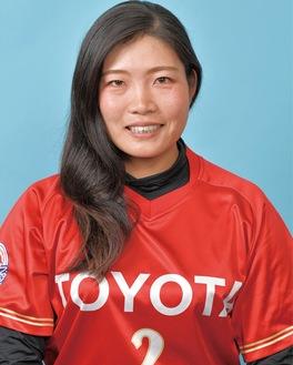 北京五輪に続いて、金メダルを獲得した峰選手※(公財)日本ソフトボール協会より写真提供