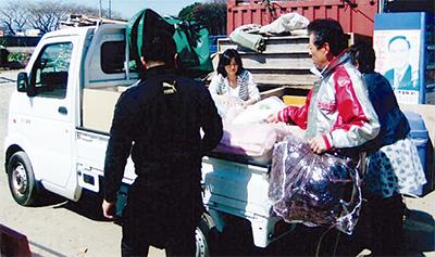 毛布200枚福島へ