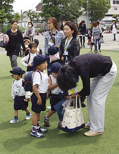 原幼稚園で引渡し訓練