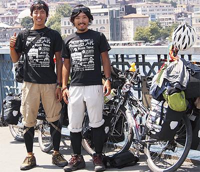 自転車で大陸横断達成
