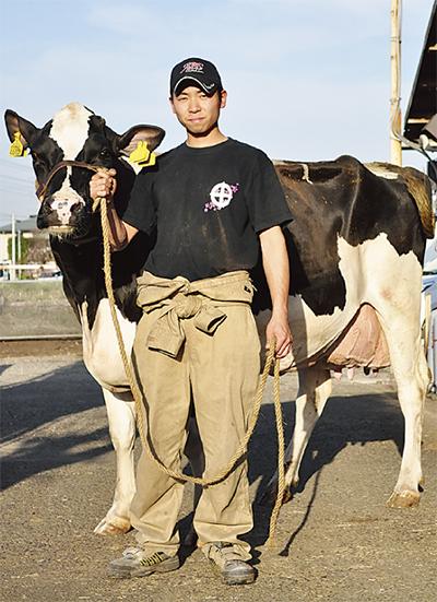 乳牛コンテストで準優勝