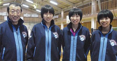 女子卓球 国体へ