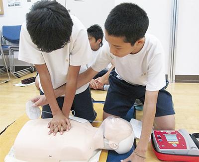 中学校で初めて防災教室