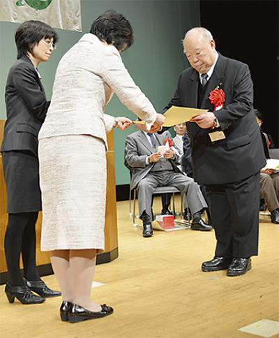 永年在職者を表彰