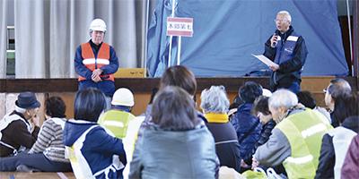 拠点避難訓練を実施
