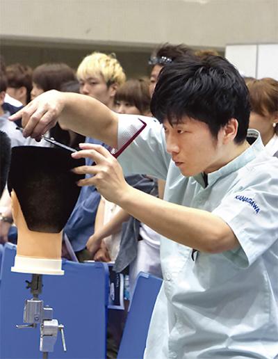 若手理容師が活躍