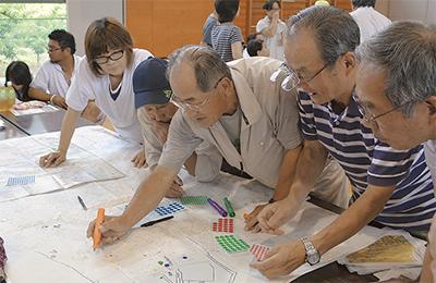 区と共催で水害対策訓練