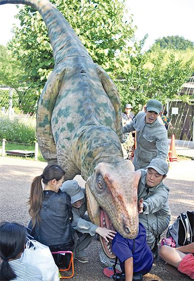 ズーラシアに「恐竜」現る