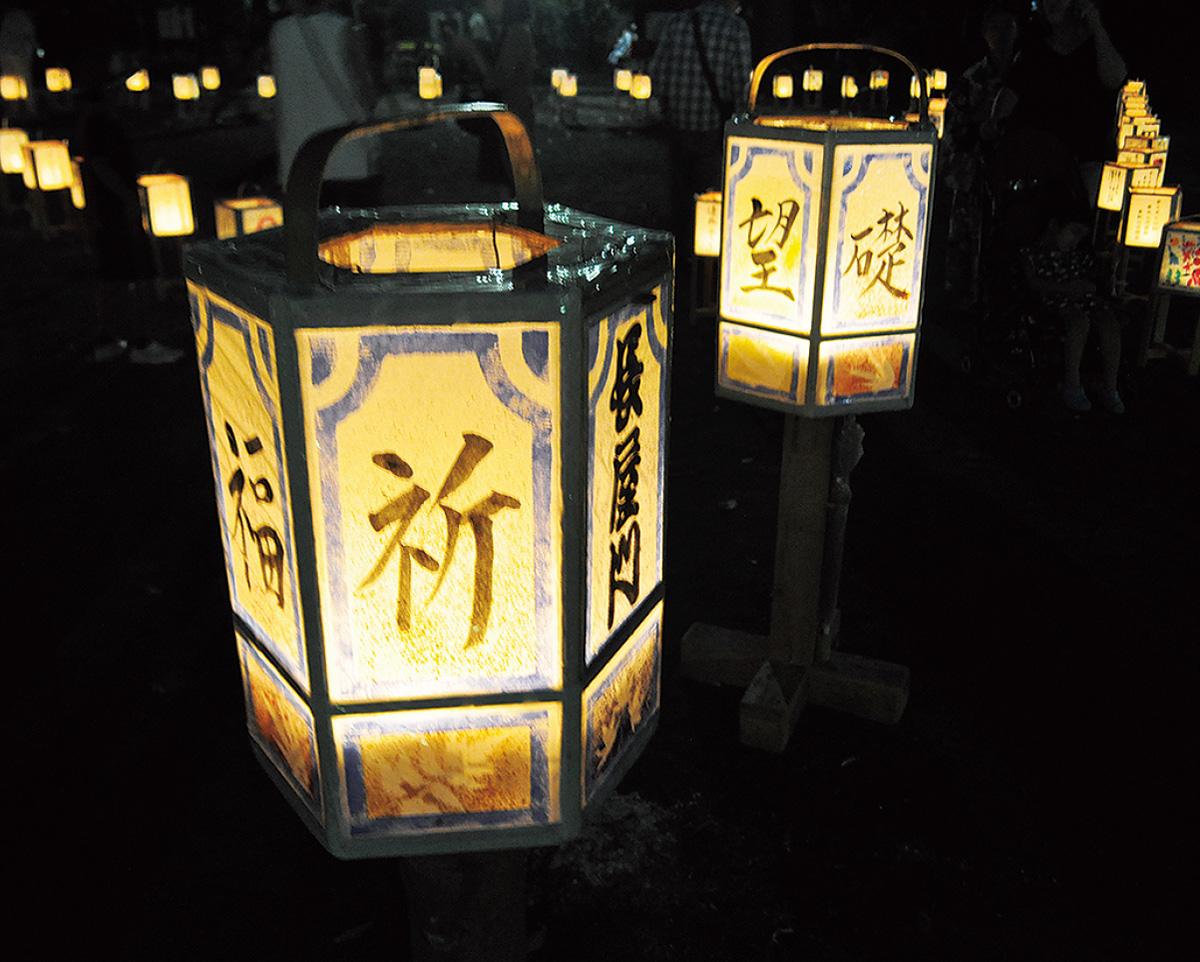 灯篭が七夕を彩る