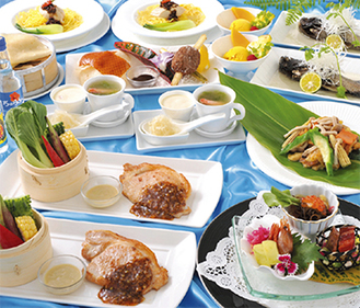 沖縄と中国料理のコラボレーションが楽しめる