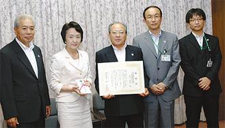 林市長に寄付を手渡したJA横浜の皆さん