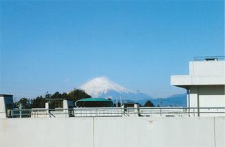 領家中からみた富士山