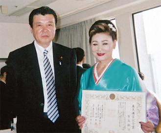 梶村市議(左)と宮谷さん
