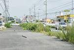 岡津地区の一部拡幅された道路(未供用)
