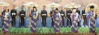 いずみ歌舞伎を演じる児童=区提供